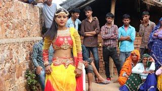 नेहा ने किया गांव वालों के सामने डांस    Gori tari patli kamar bal khave    Ajeet Katara Rasiya