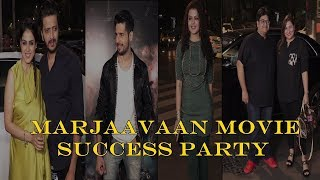 Mass Celebration For Marjaavaan With Whole team | News Remind