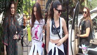 Malaika Arora, Amruta Arora & Raveena Tandon Spotted | Diva Yoga | Bandra | News Remind