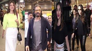 Sunil Shetty, Kajal Agrawal, Tushar kapoor, Kanika Kapoor & many Celebs Spotted At AIrport