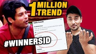 Bigg Boss 13 | Sidharth Shukla BIGGEST RECORD | 1 MILLION TWEETS | BB 13 Latest Video