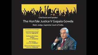 Gulbarga Mein CAA-NRC-NPR Par Ahem Program Supreme Court Retd Judge V Gopala Gowda Ka Khususi Khitab