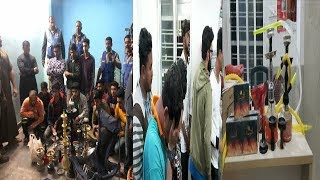 Hyderabad Police Raid On 2 Hukkah Parlours At Chandrayangutta PS And Rein Bazar PS Limits  
