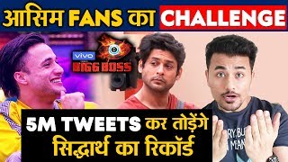 Bigg Boss 13 | Asim Fans Challenges Sidharth Shukla's 4 Million Trend | Full Details | BB 13 Video