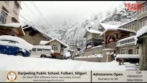 Snowfall at Lachung, Sikkim