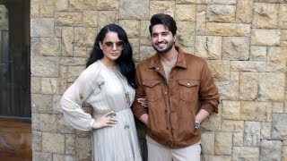 Kangna Ranaut And Jassi Gill Spotted Promoting Their Upcoming Film Panga At Jw Marriot