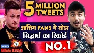 5 Million Tweets - Asim Fans Create The Record | Bigg Boss 13 | Asim Squad
