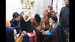 Smt. Priyanka Gandhi meets with Ms Ruqaiya Parveen a victim of police violence in Muzaffarnagar, UP
