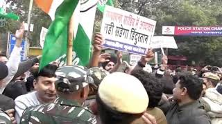 IYC protest outside Pakistan embassy against the vandalism of Nankana Sahib Gurudwara.