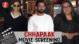 Deepika Padukone, Meghna Gulzar, Vikrant Massey Have A Blast At Chhapaak Special Screening