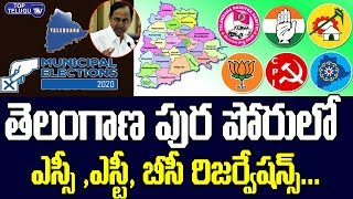 Telangana Municipal Elections SC ST BC Reservations Issued Today | Telangana News | CM KCR | TRS