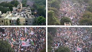 Hyderabad Million March protest Against CAA at Dharna Chowk, Tankbond, Hyderabad