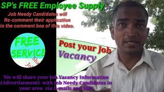SECUNDERABAD      EMPLOYEE SUPPLY   ! Post your Job Vacancy ! Recruitment Advertisement ! Job Inform