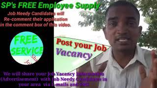 YAMUNA NAGAR      EMPLOYEE SUPPLY   ! Post your Job Vacancy ! Recruitment Advertisement ! Job Inform