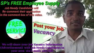 BIDHANNAGAR      EMPLOYEE SUPPLY   ! Post your Job Vacancy ! Recruitment Advertisement ! Job Informa