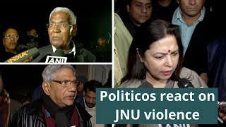 Politicos react on JNU violence