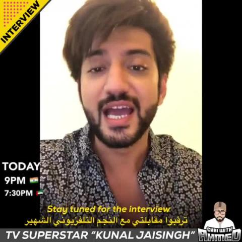 Dont forget to tune in for today's interview with TV Superstar 'Kunal Jaisingh' LIVE through Insta