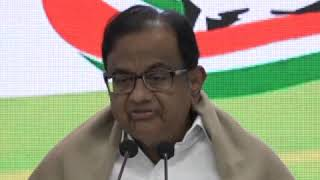 P Chidambaram addresses media at Congress HQ on the NPR and Assam NRC