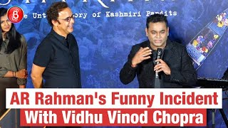 AR Rahman Shares A Super Funny Incident As To Why He Never Worked With Vidhu Vinod Chopra | Shikara