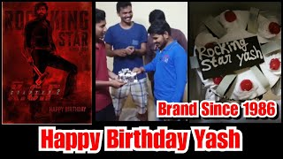 Yash Fans From Mumbai Cuts Birthday Cake For Rocking Star Yash, KGF Chapter 2 Craze Begins