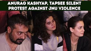 Anurag Kashyap, Taapsee Pannu Silent Protest Against JNU Violence In Delhi