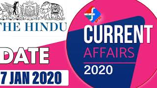 7 January 2020 | Current Affairs | Formula UPSC