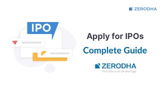 Applying for an IPO got so easy with Zerodha Demat Account