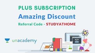 Unacademy Plus Subscription   Amazing Discount   Referral Code STUDYATHOME