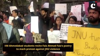 IIM Ahmedabad students recite Faiz Ahmad Faiz's poetry to mark protest against JNU violence