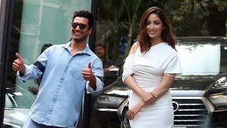 Vicky Kaushal And Yami Gautam Spotted At RSVP Movies Office