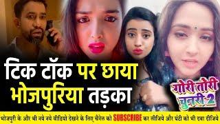 टिक टोक पर छाया भोजपुरिया तड़का - Kajal Raghwani, Akshara Singh और Amrapali का Best Tik Tok वीडियो