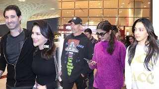 SPOTTED : Akshay Kumar With Pooja Hegde And Kiara Advani & Sunny Leone With Husband