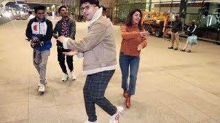 Gurmeet Choudhary And Debina Bonnerjee Dance With Media At Mumbai Airport | Watch Video