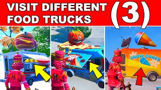 Visit Different Food Trucks Fortnite (All 3 Food trucks Locations)