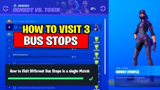 How to Visit Different Bus Stops in a single Match (Easy Way) Fortnite Glitch