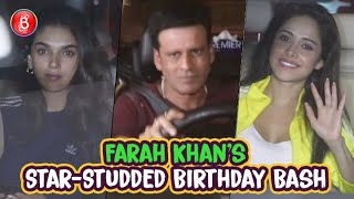 Who's Who Of Bollywood Attend Farah Khan's Star-Studded Birthday Bash