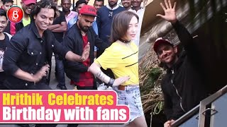 Hrithik Roshan Waves Out To Fans Celebrating His 46th Birthday Outside His Residence