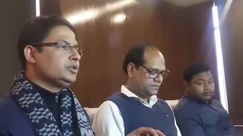 भाजपा सांसद राजू विस्ट का संवाददाता सम्मेलन