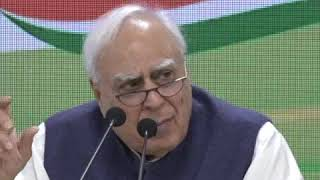 Kapil Sibal addresses media at Congress HQ on Supreme Court verdict on Kashmir