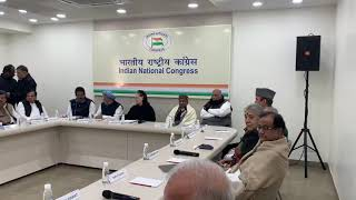 Congress Working Committee Meeting at AICC HQ
