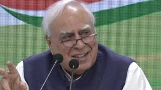 Kapil Sibal addresses media at Congress HQ on SC Verdict on Kashmir