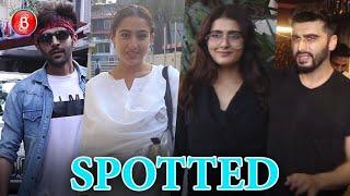Kartik Aaryan, Sara Ali Khan, Fatima Sana Shaikh & Arjun Kapoor Spotted Around B-Town