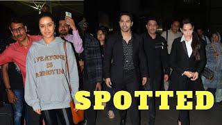 Varun Dhawan, Shraddha Kapoor & Nora snapped at airport