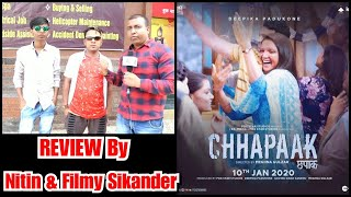 Chhapaak Movie Review By Nitin And Filmy Sikander