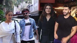 Spotted : Kartik Aryaan With Sara Ali Khan & Arjun Kapoor With Fatima Sana Shaikh