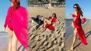 Mouni Roy Holiday In Dubai | Mouni Roy Photo shoot In Red Color Bikini