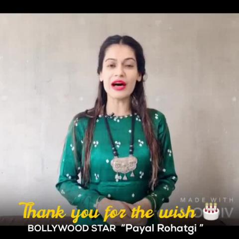 Thank you Payal Rohatgi, you gave me a great smile. God bless you Always