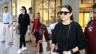 Anushka Sharma Spotted At Mumbai Airport - Watch Video