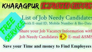 KHARAGPUR      EMPLOYEE SUPPLY   ! Post your Job Vacancy ! Recruitment Advertisement ! Job Informati
