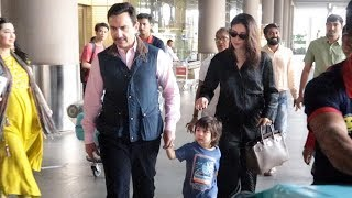 Kareena With Taimur & Saif Coming Back From Her Holiday After A Massive Success Of Good Newwz